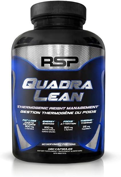 Quadra Lean : Brûleur de graisse multi-actions de RSP Nutrition