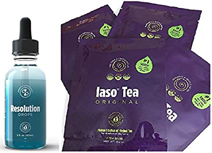Cure PROMO iaso tea thé détox + iaso NRG brûleur de graisse TLC régime