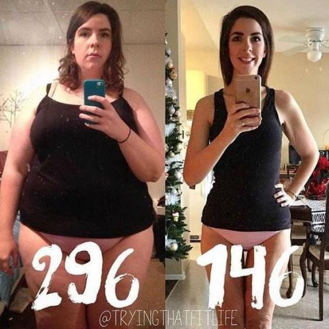 la perte de poids résulte avant et après