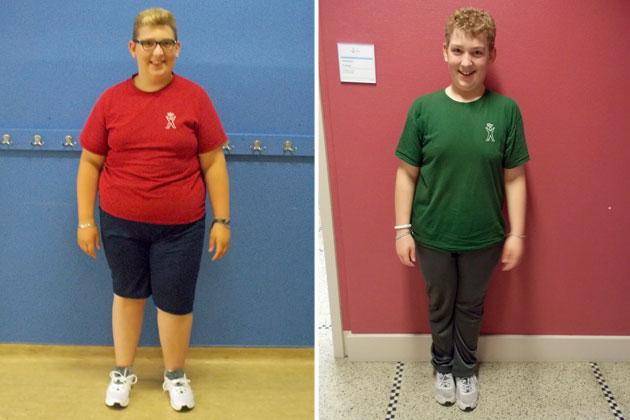 transformation de perte de poids adolescente