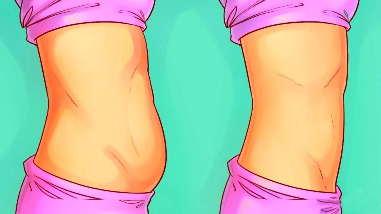 ventre brûlant la graisse avec du latex