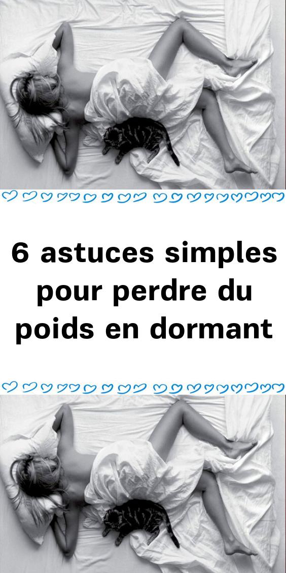perdez-vous plus de poids en dormant