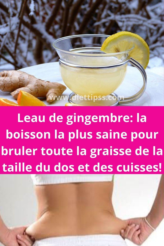 boissons saines pour la perte de graisse