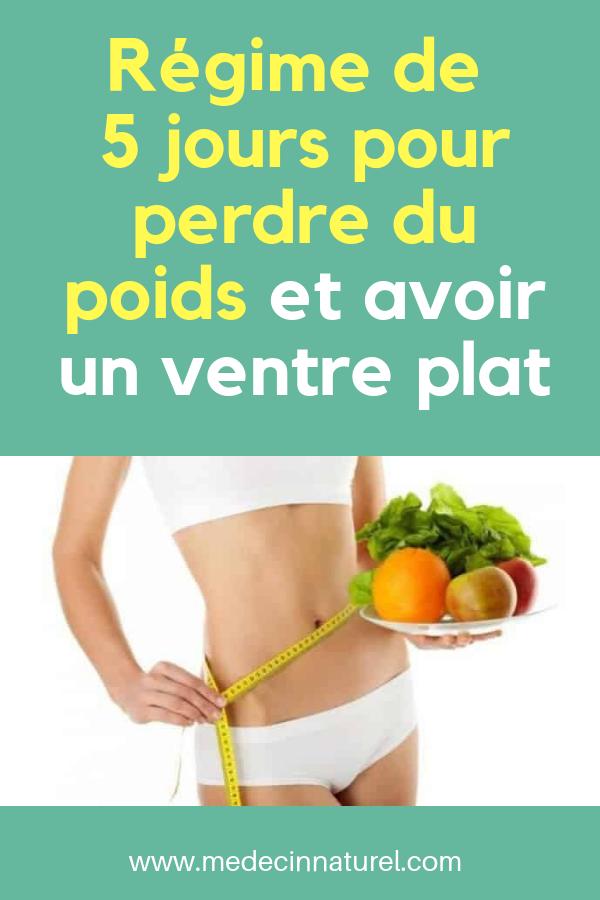 meilleure façon de perdre du poids 5 jours