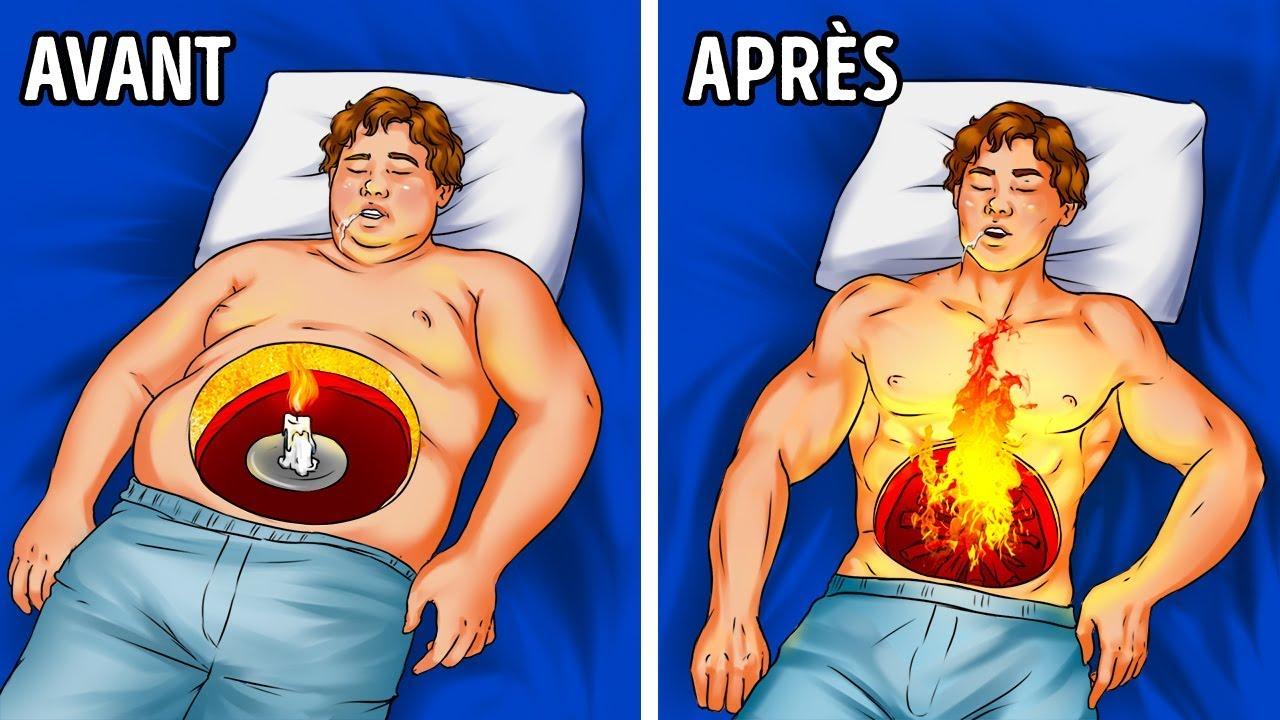 conseils pour brûler les graisses en dormant