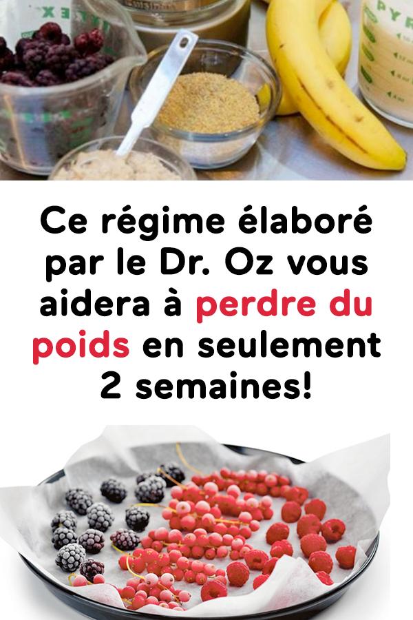 dr oz perdre du poids