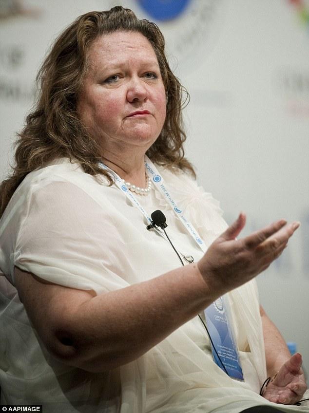 Gina Rinehart perte de poids