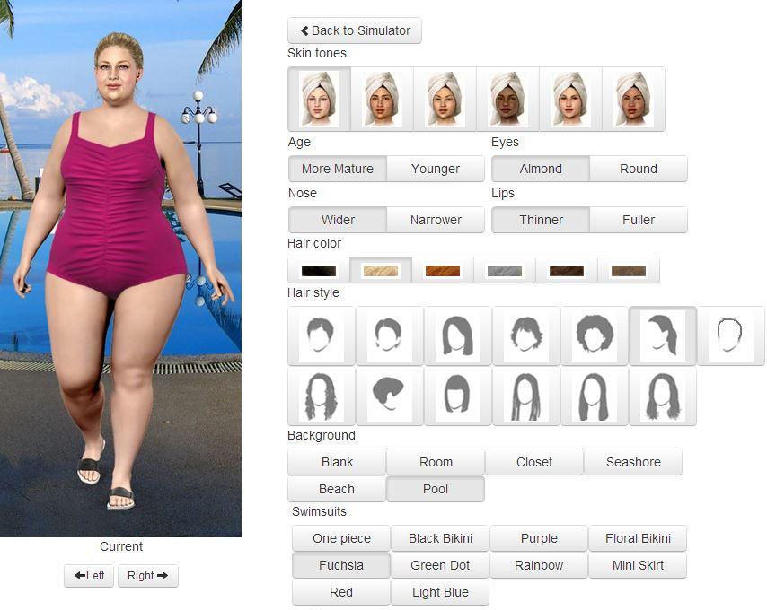logiciel de morphing corporel perte de poids