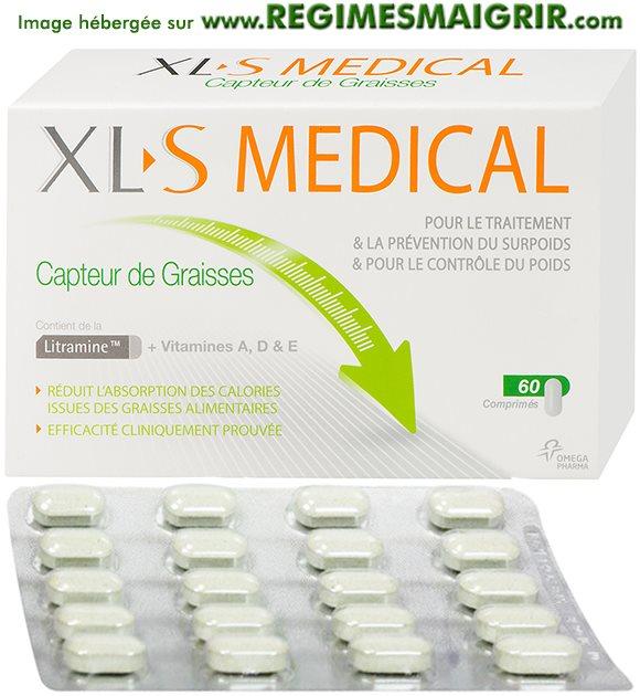 XLS Medical Perte de poids Réduit les Graisses + Sucres - boîte de comprimés