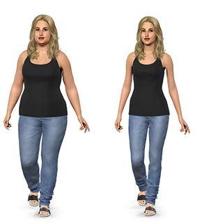 Simuler une prise ou une perte de poids
