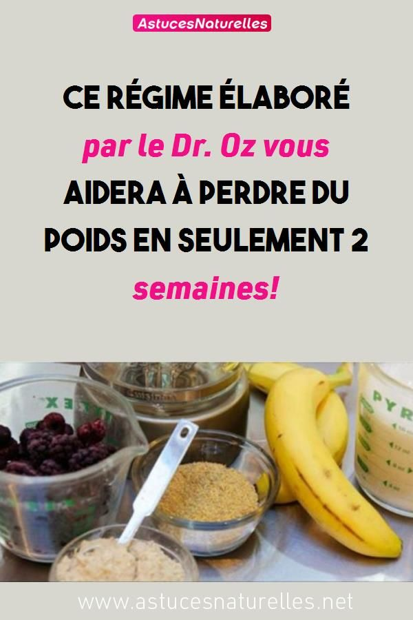 dr oz perdre du poids rapidement